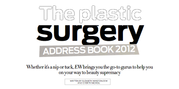 EW – The Plastic Surgery Address Book